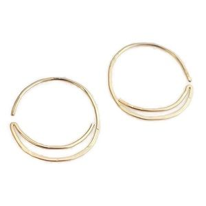 Moon Sun Threader Hoop Earrings
